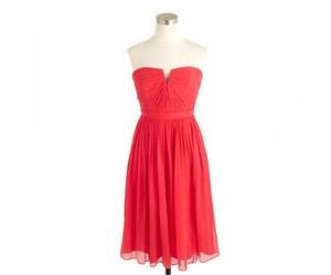 J.Crew Strawberry J Crew Nadia Dress Strawberry Silk Chiffon Bridesmaid Dress