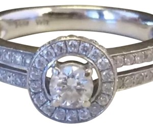 Other 14K WHITE GOLD DIAMOND HALO ENGAGEMENT RING