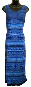 Blue Maxi Dress by Maxi Turquoise Embellished
