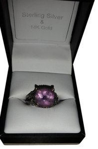 Other Sterling Silver 14kt Amethyst cable Ring