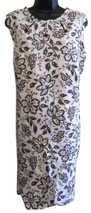 Royal Miss short dress Brown and White Vintage Shift Floral on Tradesy