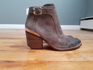 Jeffrey Campbell Moto Suede Taupe Boots