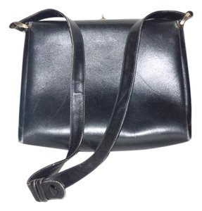 Gucci Or Tote Multi-compartment 60's Mod Early Excellent Vintage Great Everyday Satchel in midnight blue