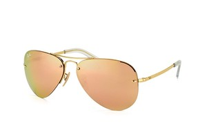 Ray-Ban RB3449 59mm gold aviator