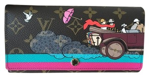 Louis Vuitton LV Evasion Sarah Wallet; Limited Edition 2015