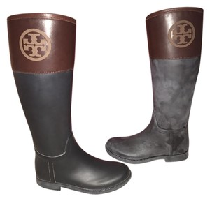 Tory Burch Rainboot Black Black/Almond Boots