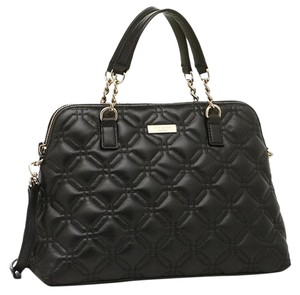 Kate Spade Quilted Leather Satchel in Black