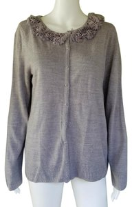 Carolyn Taylor Knit Sweater Embellished Cardigan
