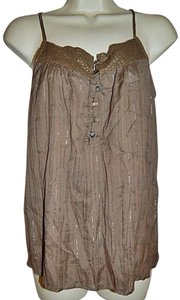 Abercrombie & Fitch & Lurex Large Top Brown, Gol
