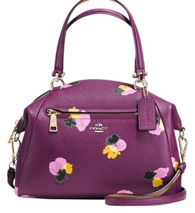 Coach Plum Detachable Strap Cross Body Bag