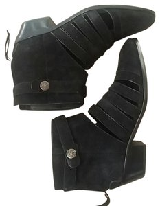 Rebecca Minkoff Leather Suede Black Boots