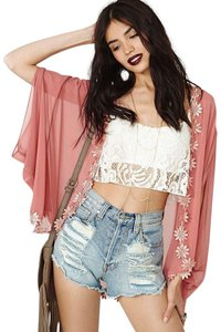 Nasty Gal Festival Flower Cover-up Cape