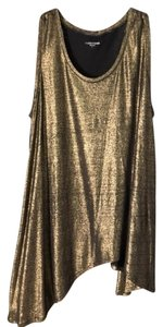 Eileen Fisher Top Gold and Black