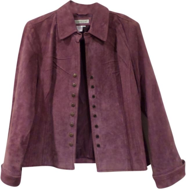 Coldwater Creek Suede Lavender Leather Jacket