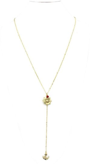 Other Nautical Anchor Helm Gold Chain Necklace