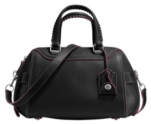 Coach Crossbody Glovetanned Satchel in black