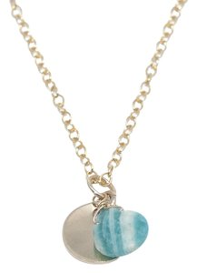 Mei Mei Gold Faceted Amazonite Gemstone Charm Delicate Dainty Necklace