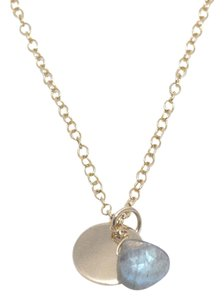 Mei Mei Gold Faceted Labradorite Gemstone Charm Delicate Dainty Necklace