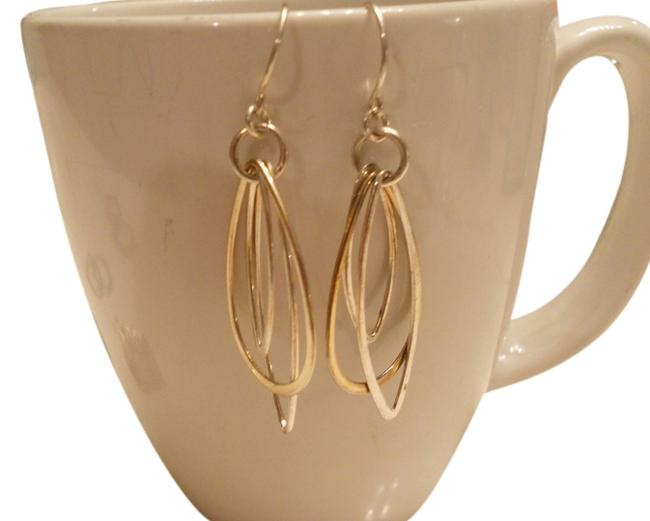 Item - Silver Free Shipping Sterling Dangle Two-tone Dangle 1.25 Inches. These Go with Everything. Earrings