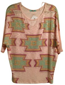 Brand New Karlie shirt!! Top multi colored peacock