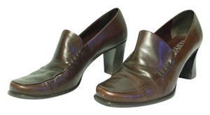 Franco Sarto Office Leather Brown Pumps