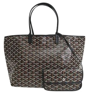 Goyard Saint Louis Pm Chevron Tote in Black