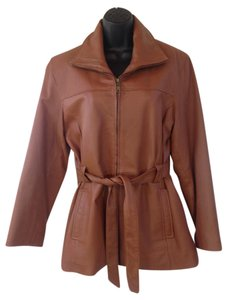 KC caramel Leather Jacket