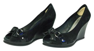 Sperry Patent Leather Black Wedges