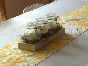 Mason Jar Centerpieces (set Of 8)