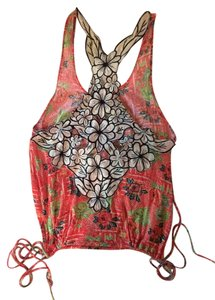 Free People Floral Festival Top Coral