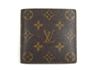 Louis Vuitton Marco Monogram Canvas Leather Bifold Wallet w/ Box