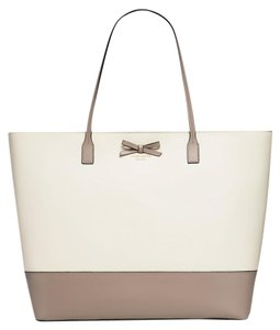 Kate Spade New York Sawyer Street Ani Wkru3743 Geranium Tote in magnolia/clock tower