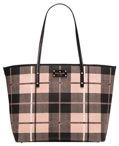 Kate Spade New York Satchel in woodland plaid pumice