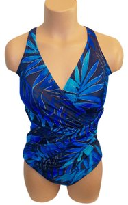Miraclesuit Miraclesuit One Piece Floral Print Maillot Multi-Color Swimsuit S: 14