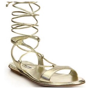 Miu Miu PALE GOLD Sandals
