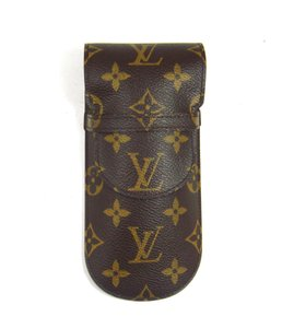 Louis Vuitton Etui Lunettes Rabat Glasses Case Monogram Canvas Leather w/ Dustbag