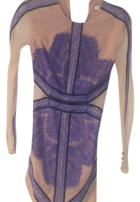 Item - Nude Blue Above Knee Night Out Dress Size 2 (XS)