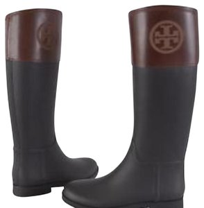 Tory Burch Navy & Almond Boots