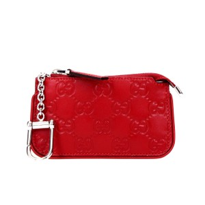 Gucci Signature Red Leather Key Case