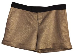 Derek Lam Dress Shorts Gold with black waistband