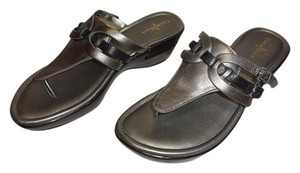 Cole Haan gunsmoke metallic Sandals