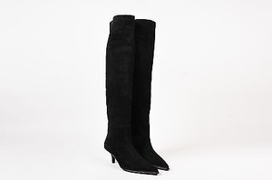Gucci Suede Pointed Toe Black Boots