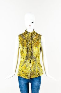 St. John Couture Black Top Yellow