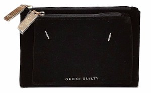 Gucci GUCCI GUILTY Black Velvet Cosmetic Make Up Bag SET OF TWO