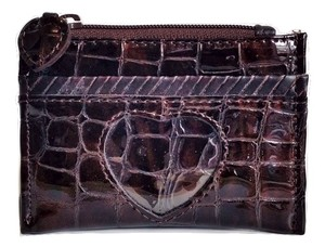 Brighton Brighton Brown Patent Leather ID Case Coin Purse Moc Croc