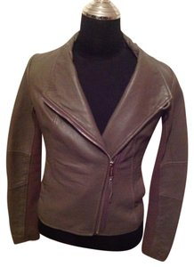 Michael Kors Taupe Leather Jacket