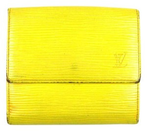 Louis Vuitton Yellow Epi Coated Leather Porte-Monnaie Cartes Trifold Wallet France