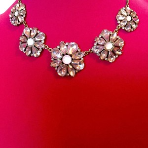 Other Pink Crystal Flower Necklace
