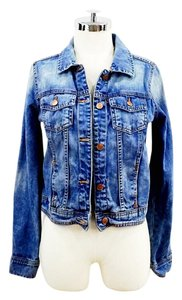 Zara Denim Medium Wash Womens Jean Jacket