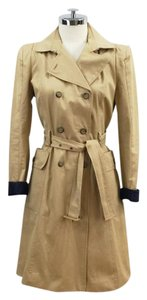Zara Classic Double Breasted Trench Gathered Trench Coat